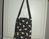 Quilted Autumn Halloween Tote..Trick or Treat Bag..SALE..Pumpkins/Ghosts/Candy Corn/Polka Dot Lining/Multiple Order Discount/Ready to Ship