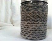 Pint-Sized Mason Jar Cozy and Travel Mug (without jar)
