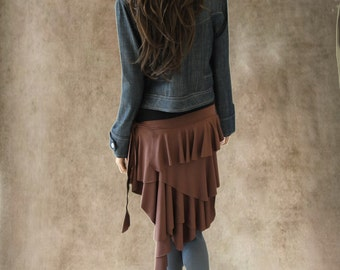 Womens cover up half skirt brown accessory by tratgirl bumlero