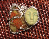 Picasso Jasper Angel pin