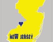 New Jersey 5x7 Print Wall Art