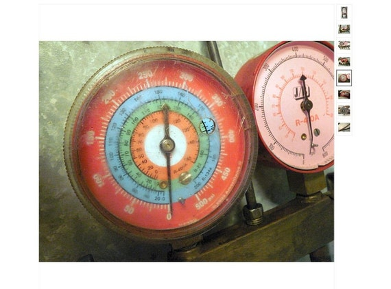 Awesome Vintage Air Pressure Gauges - brass, steampunk, industrial, shabby chic