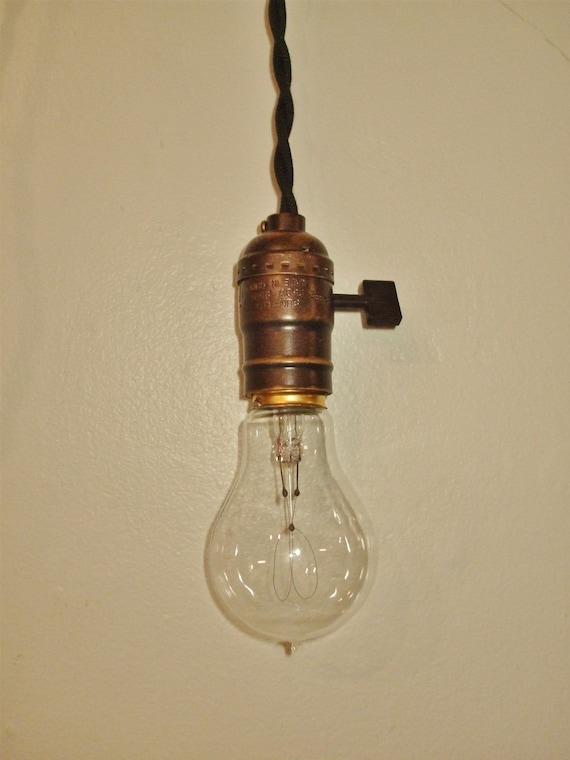 Vintage Minimalist Industrial Bare Bulb Light Sockets - Pendant Lamp