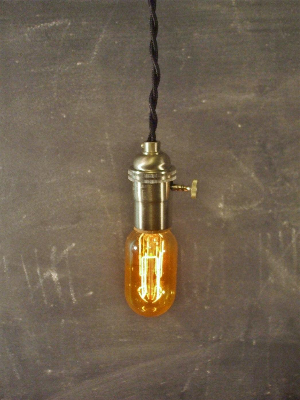 vintage minimalist industrial bare bulb light sockets by