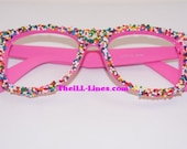 Custom Candy Sprinkle Wayfarer Style Glasses