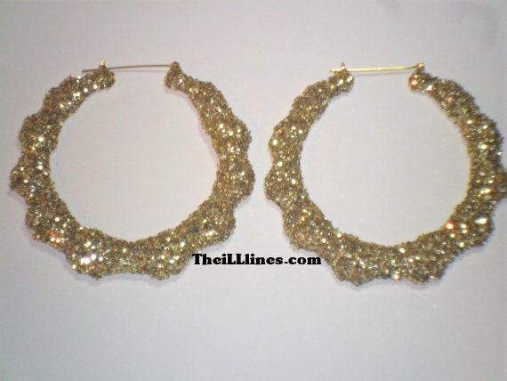 Bling Collection Bamboo Earring Gold. Buy 1 Get 1 & Free Shipping