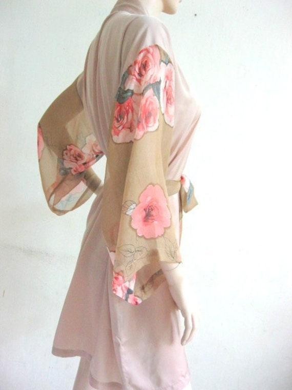 Silk Satin Kimono Robe - Reserved Listing for Angela
