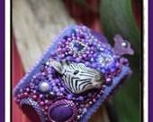 The Cutest Zebra embroidery Cuff Bracelet