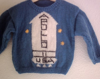 Knitting pattern Apollo sweater from the Shining child sizes.