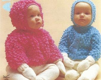 Knitting pattern Patons 1455 pram set 18 to 20 inch.