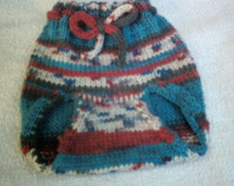 Marathon knitted baby diaper cover 0 to 6 months.