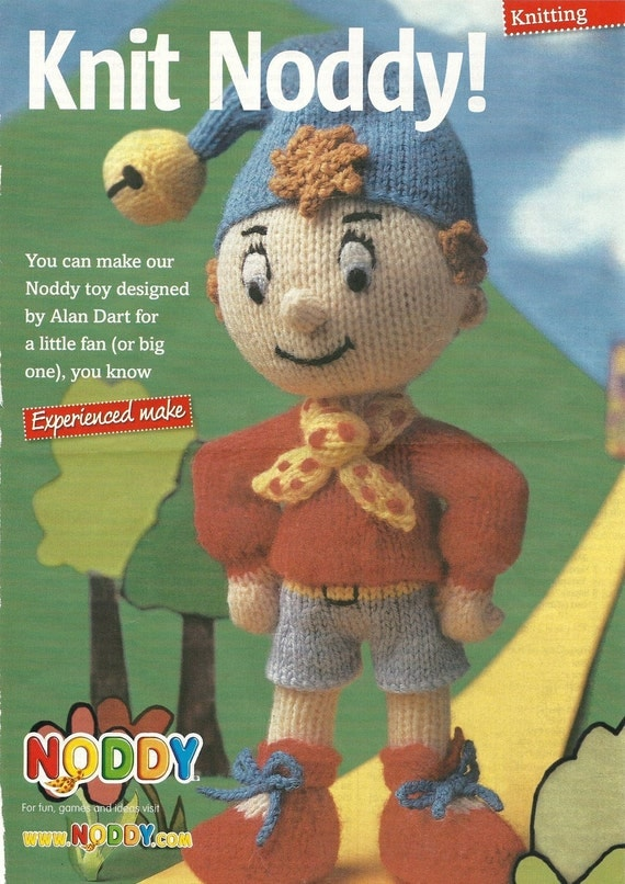 Noddy Doll Knitting Pattern : Knitting pattern Noddy by Alan Dart.