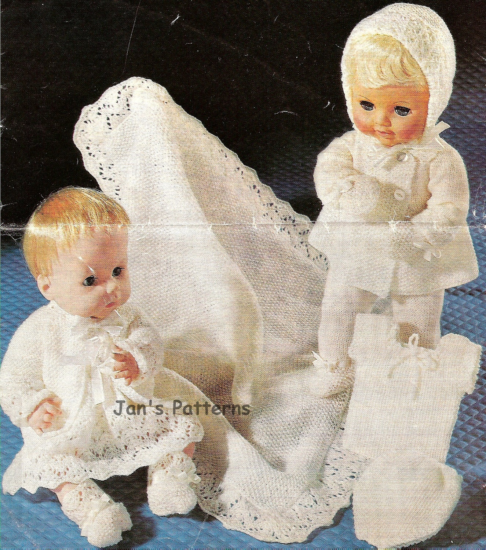 Knitting pattern Sirdar 2461b dolls layette 14 to 16 inch