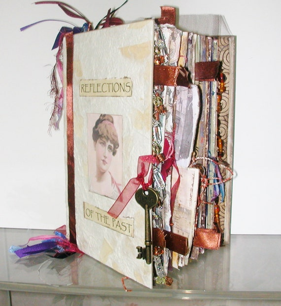 Altered Book Mixed Media Journal Antique Imagery