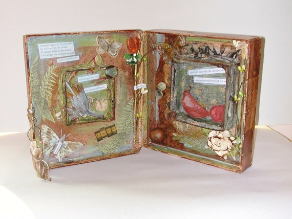 Nature Art, Altered Mixed Media Assemblage 3D