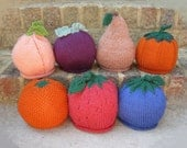 Baby Fruit or Vegetable Hat - Soft Hand Knit - Made to Order