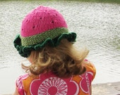 Watermelon Hat - Soft Cotton - Toddler Size - Made to Order