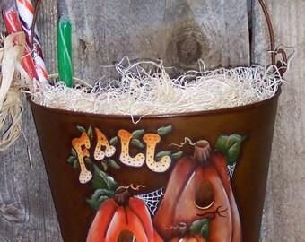 Fall Tin Bucket