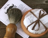 Groomsmen 7 peice Badger Brush Shave Shaving Set Kit handmade soap