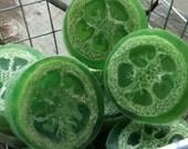 Loofah Handmade Soap Green Juniper 1 Bar