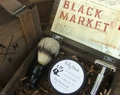 Reserve for Jennifer Black Market Men's Shaving Kit in Cigar Box