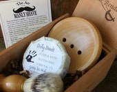 Mens Shaving Kit Cigar Box Gift Set Cyber Monday Sale