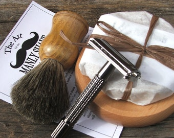 Shave Set with Razor and Badger Brush