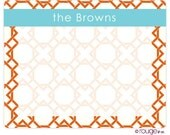 LATTICE REVERSE dry erase message board with monogram - magnet and marker included