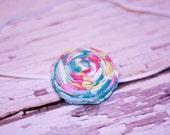 Mally rosette (fabric flower headband)