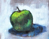 Apple Still Life Painting Cottage Chic- Original Art