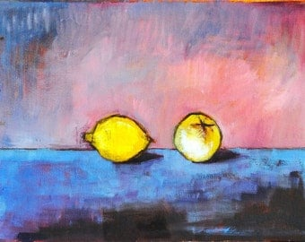 Guava and Lemon Still Life- Oil Painting