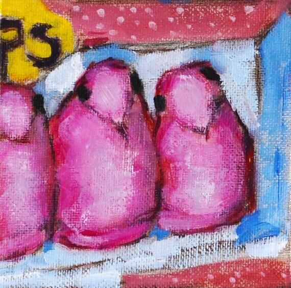 Pink Peeps Painting