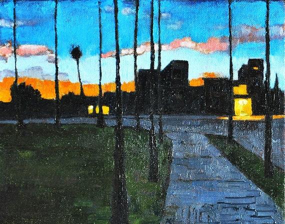 San Diego Art - California Sunset Oil Painting