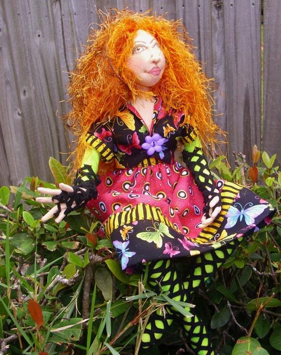 Butterfly Gypsy Queen/ Art Doll