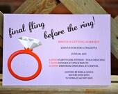 final fling - bachelorette party invitation - digital file
