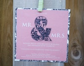 Mr. & Mrs. Engagement Party invitation - save the date, engagement party, rehearsal dinner -  digital file