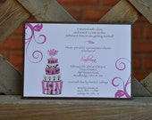 Mask it Pink - wedding shower invitation - digital file