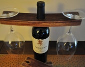 Recycled Wine Barrel Wine Glass Holder