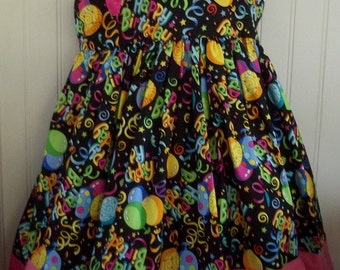 Happy Birthday Embroidered Boutique Dress Size 2T 3T 4T 5 6