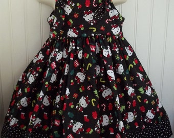 Hello Kitty Black Boutique Christmas Dress Size 2T 3T 4T 5 6 NEW