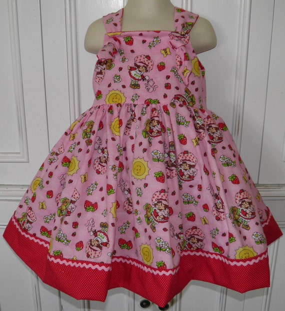 Strawberry Shortcake Boutique Girls Dress Size 2T 3T 4T 5 6