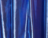 SAPPHIRE (blue warp, white weft) tissue lame' half circle dance veil