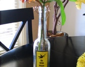 Vintage Bottle Upcycled with Rumi Quote Be With Those Who Help Your Being