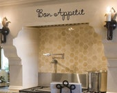 Bon Appetit- Vinyl Lettering wall words quotes graphics decals Art Home decor itswritteninvinyl