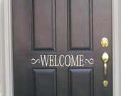 Welcome -Vinyl Lettering wall words graphics Home decor itswritteninvinyl