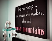 Let her sleep...- children  Vinyl Lettering wall  art words graphics  decals   Home decor itswritteninvinyl