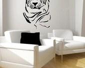 Tiger Portrait Vinyl Lettering  animal Decal wall words graphics Home decor bedroom  itswritteninvinyl