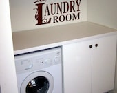 Laundry Room Vinyl Lettering decal bathroom wall words graphics  decals  Art Home decor itswritteninvinyl