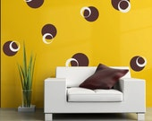 Funky circles 2-Vinyl Lettering decal wall words graphics Home decor itswritteninvinyl