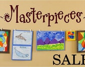 SALE- Masterpieces-Vinyl Lettering decal wall  art words  quotes graphics Home decor itswritteninvinyl